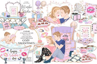 COZY VALENTINE'S DAY Clipart