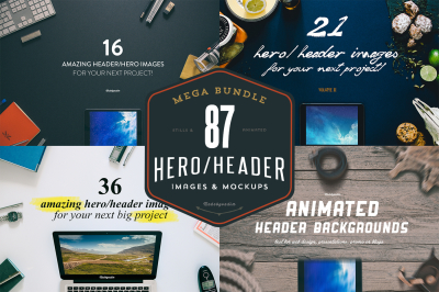 MEGA BUNDLE - 87 Hero/Header images