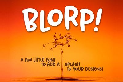BLORP! A fun, weird little font