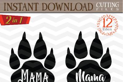 Mama bear SVG - Mama bear paw svg digital - Mama Bear with Arrow - mama bear print - Mama SVG file - DIY- Svg - Dxf- Eps - Png - Jpg - Pdf