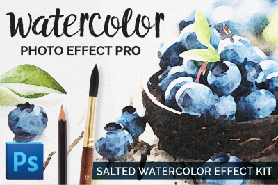 Watercolor Photo Effect Pro: Salted Edition