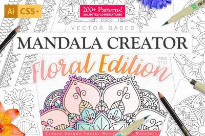 Coloringbook Mandala Creator: Floral Edition
