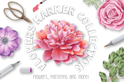Flowers Marker Collection