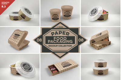 VOL 8: Paper Food Box Packaging Mockup Collection