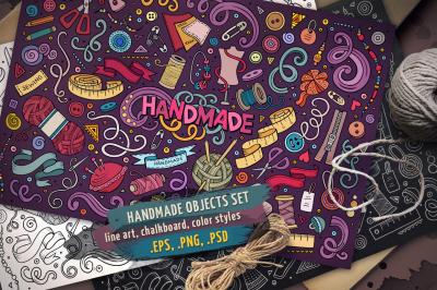 Handmade Objects & Elements Set