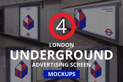 London Underground Advertising Screen Mock-ups