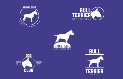 Bull terrier logo pack