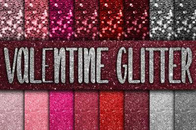 Valentine Glitter Digital Paper