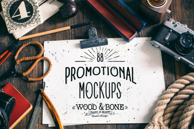 Wood and Bone - Promotional Mock Ups
