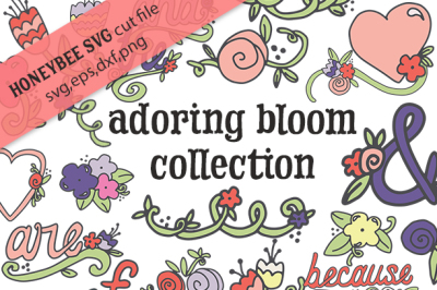 Adoring Bloom Collection for SVG and Clipart