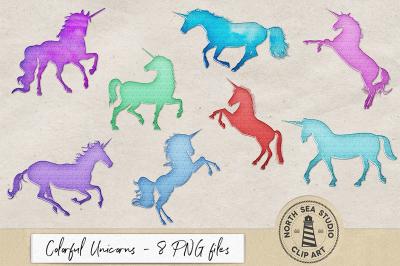 Shimmering Metal Unicorns
