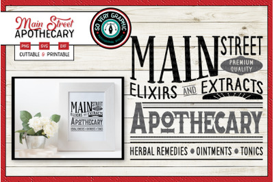 Main Street Apothecary | SVG Cut File