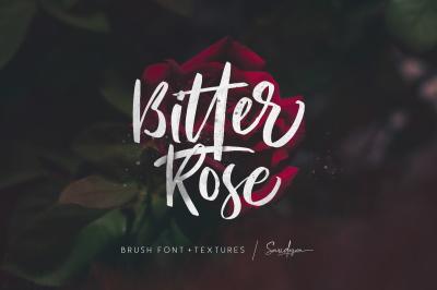 Bitter Rose - Brush Font (+TEXTURES)