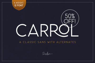 Carrol Sans (12 Fonts) - 50% OFF!