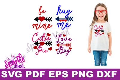 Valentine Shirt Toddler Infant Girl printable or svg bundle cut files for cricut or silhouette, Svg Valentines day svg cut file