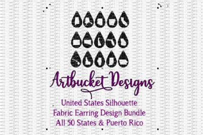50 United States Fabric Earring Design Bundle