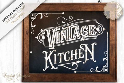 Vintage Kitchen Quote Svg Cutting Design