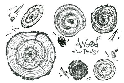 Vector wooden eco design.