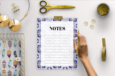 Notes Page - Portuguese Tiles
