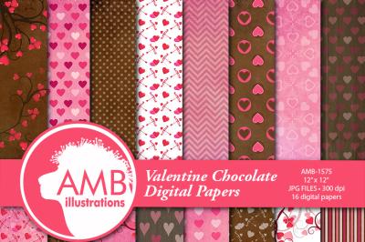 Valentine Patterns, Chocolate Heart, Valentines Day AMB-1575