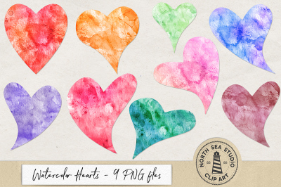 Watercolor Heart Clipart