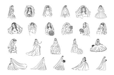 22 Bride illustrations