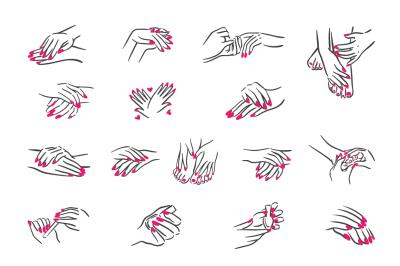 Manicure and pedicure illustration