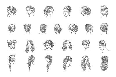 25 Woman hairstyle illustration