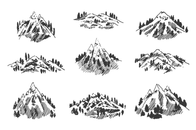 9 Mountains illustration