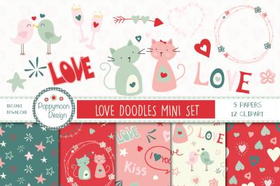 Love doodles mini set