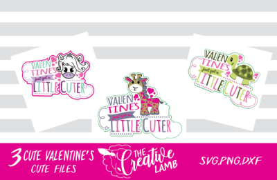Valentines Just Got Cuter Animals Mini Bundle svgs