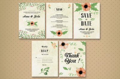 wedding Invitaion Cards Pack