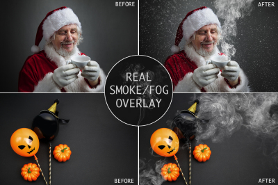 WINTER SALE! Real Smoke-Fog overlay for Photoshop