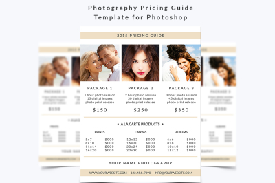 Photography Pricing Guide Template