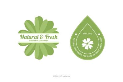 Natural & Organic Badges