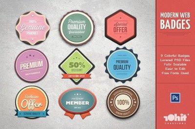 Modern Web Badges