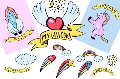 My Unicorn - cute illustration