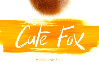 Cute Fox - Handdrawn Font