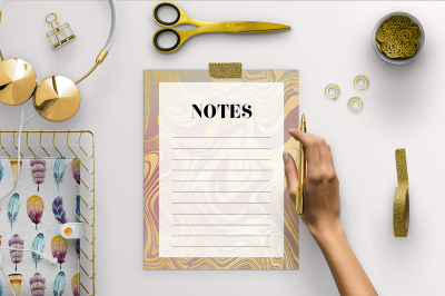 Printable Notes Page - Liquid Gold