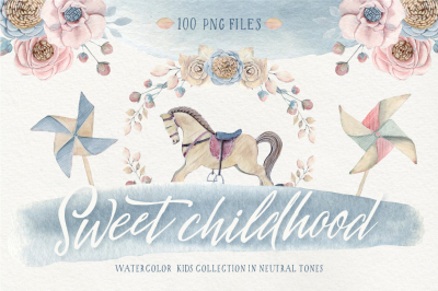 SWEET CHILDHOOD watercolor set