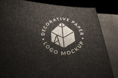 Decorative Paper Logo Mock-up 2