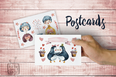 Postcards for Valentine's Day