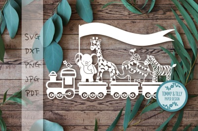 Animal Train SVG DXF PNG JPG PDF