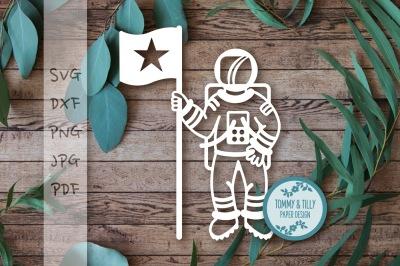 Astronaut SVG DXF PNG PDF JPG