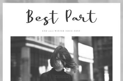 Best Part - Beauty Casual Font