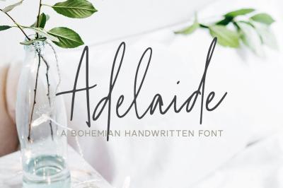 Adelaide   A Bohemian Handwritten Font