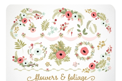Rose and Gold Florals