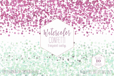 Watercolor Confetti Dot Borders