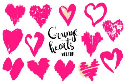 Hand craft vector hearts