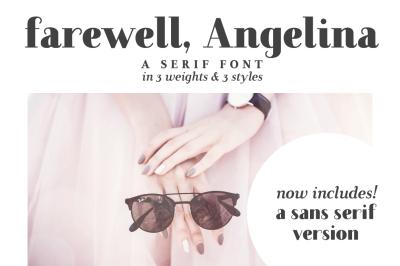 Farewell Angelina | a serif font